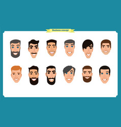 group of people business men avatar vector image