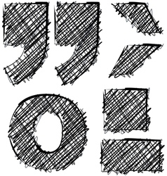 Hand drawn font vector