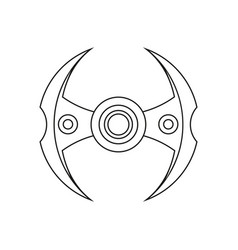 Hand spinner stress relief ridget toy icon use in vector