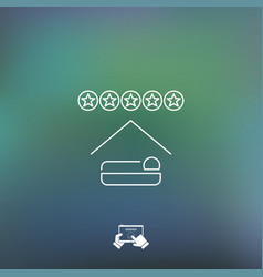 hotel rating icon vector image