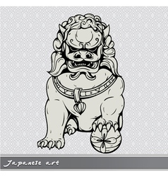 Japanese foo lion vector