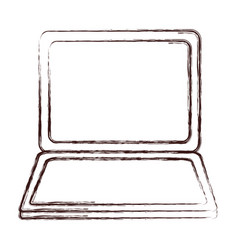 Laptop computer icon vector