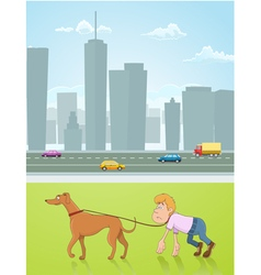 Leading dog vector