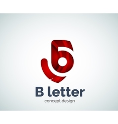 letter concept logo template vector image