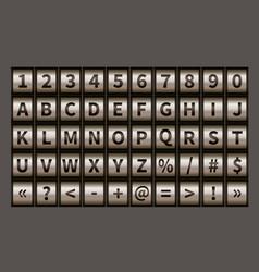 letter wheel font code padlock symbols vector image