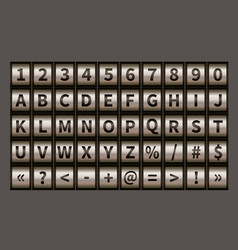 letter wheel font code padlock symbols with vector image