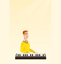 Man playing the piano vector