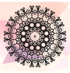 Mandala on triangles background vector image