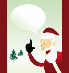 Message from santa claus vector