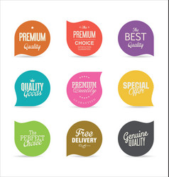 modern badges and labels collection 3 vector image
