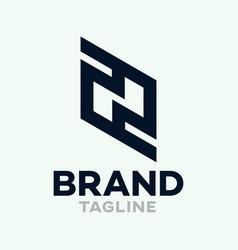 Modern letters zn or nz logo vector