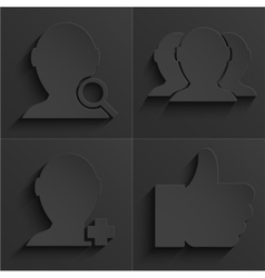 modern social network icons set vector image
