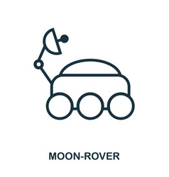 moon-rover icon flat style icon design ui vector image