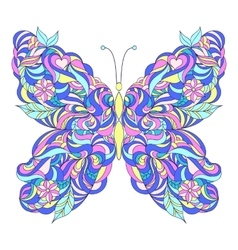 Motley abstract butterfly vector image