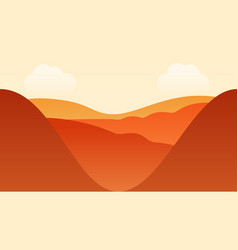 mountain landscape with clouds vector image