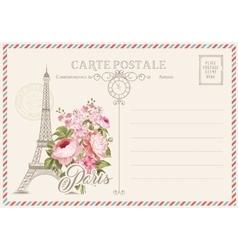 Old blank postcard vector