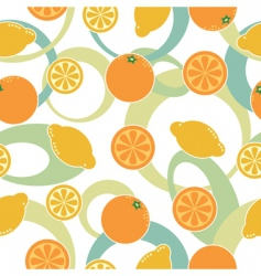 Orange and lemon pattern seamless vector