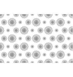 Outline sunflower pattern seamless backdrop vector