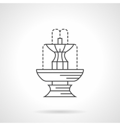 Park fountain flat line icon vector image