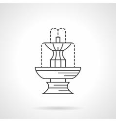 Park fountain flat line icon vector