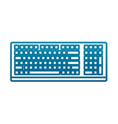 pc keyboard device vector image
