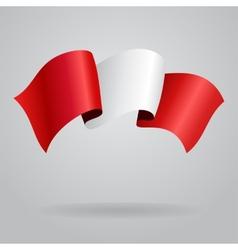 Peruvian waving Flag vector