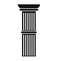 Pillar icon simple style vector
