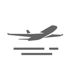 plane take off icon shape or airplane jet vector image