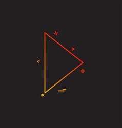 play icon design vector image