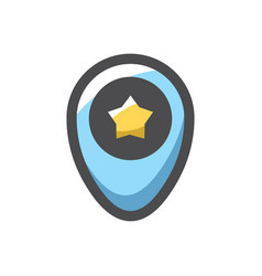 pointer with a star icon cartoon vector image