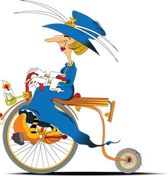 Queen cyclist cartoon vector