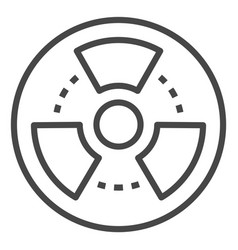 radiation icon outline style vector image