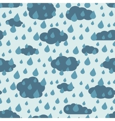 Rainy weather seamless pattern vector