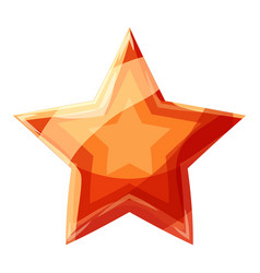 red star icon cartoon style vector image