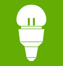 reflector bulb icon green vector image