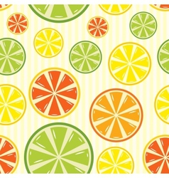seamless background with lemon lime orange and vector image
