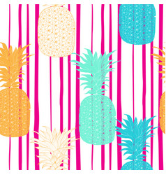 Seamless pattern pineapple background vector