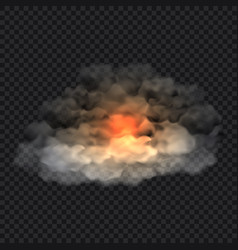 smoke cloud concept background realistic style vector image