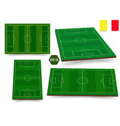 soccer european football field in top view vector image