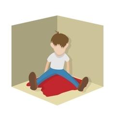 Suicide icon cartoon style vector image