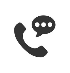 Telephone conversation icon vector