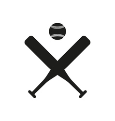 The baseball icon Sport symbol Flat vector image