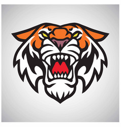 Tiger head logo mascot vector