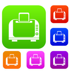 Toaster set collection vector
