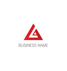 triangle abstract business logo vector image