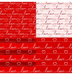 Various love pattern vector