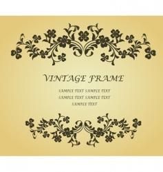 Vintage frame with clover vector