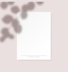 white vertical paper blank with eucalyptus leaves vector image