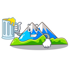 With juice mountain scenery isolated from the vector