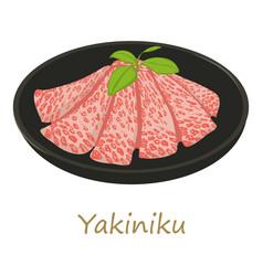 Yakiniku icon cartoon style vector